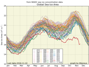 Global sea ice. From NSIDC.